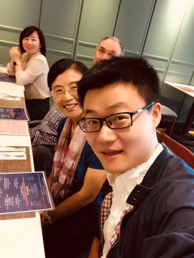 with Professors Ting Gong, Tim Pringle, and Jun Wang
